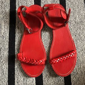 Madewell Red Braided Sandals